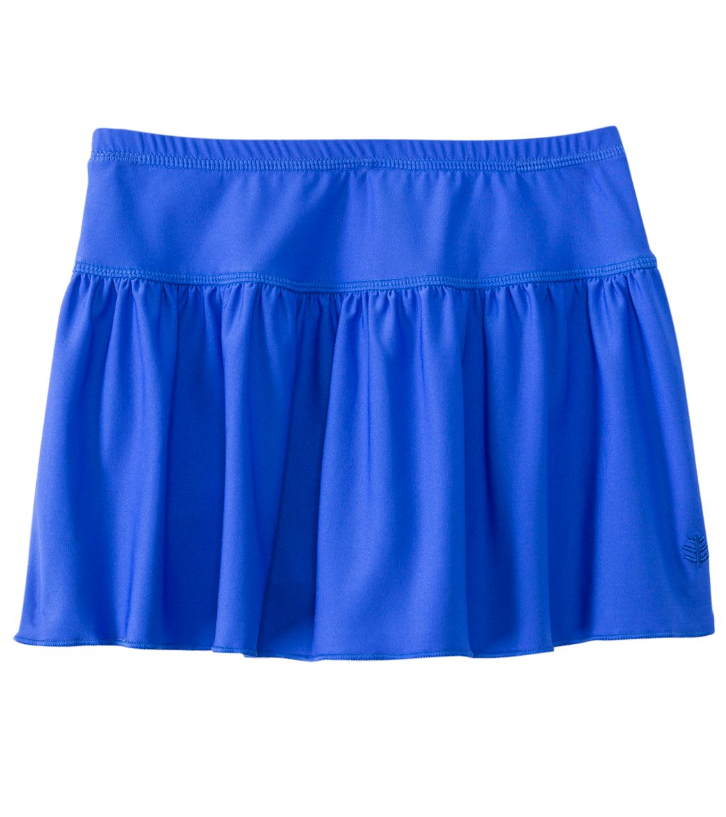 909e5feacd Coolibar Girls' UPF 50+ Solid Swim Skirt (4-12) at SwimOutlet.com