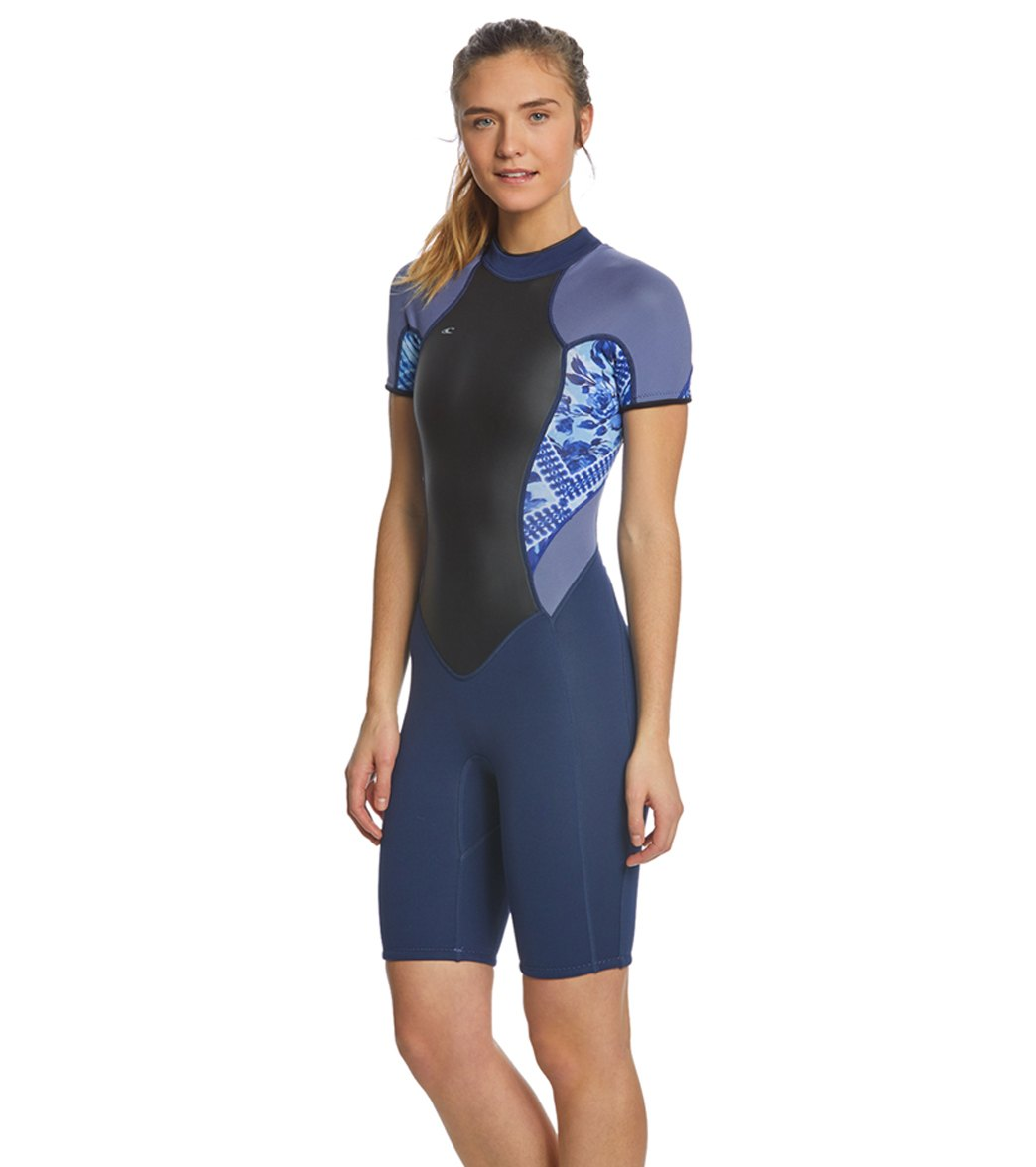 O Neill Women s 2 1MM Bahia Short Sleeve Springsuit Wetsuit at ... ebf2efd51