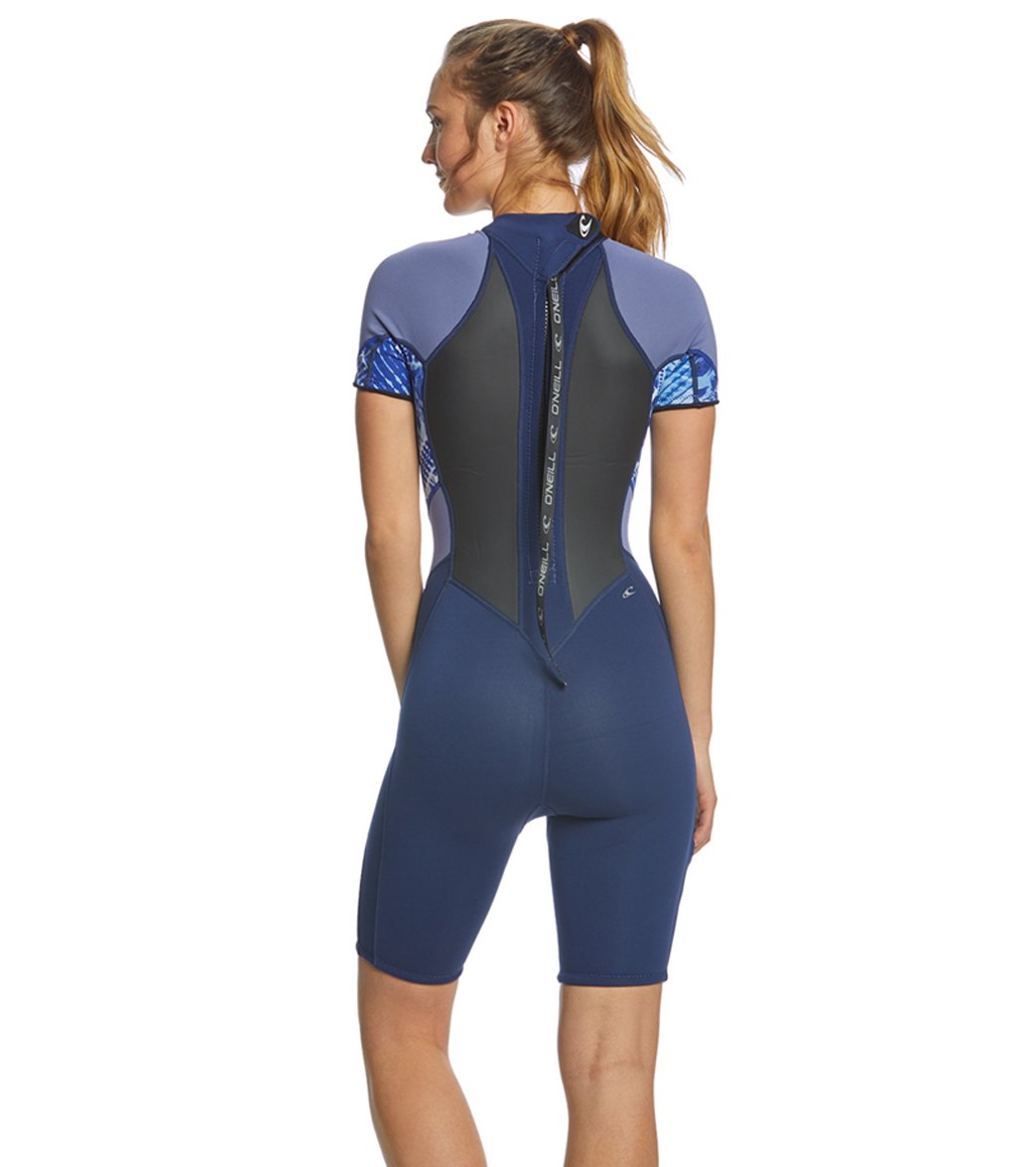 O Neill Women s 2 1MM Bahia Short Sleeve Springsuit Wetsuit at ... e00c44a4e