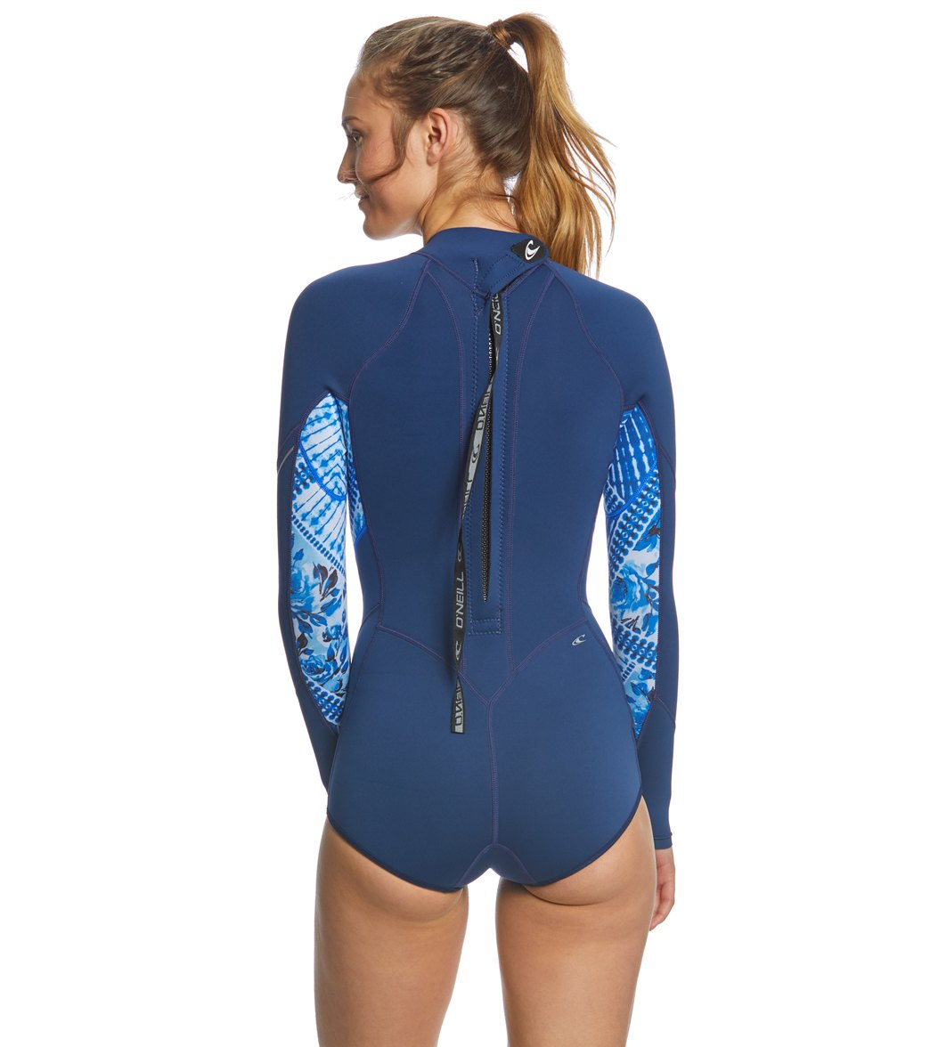 d4b27a4eab7e O'Neill Women's 2/1MM Bahia Long Sleeve Springsuit Wetsuit at ...