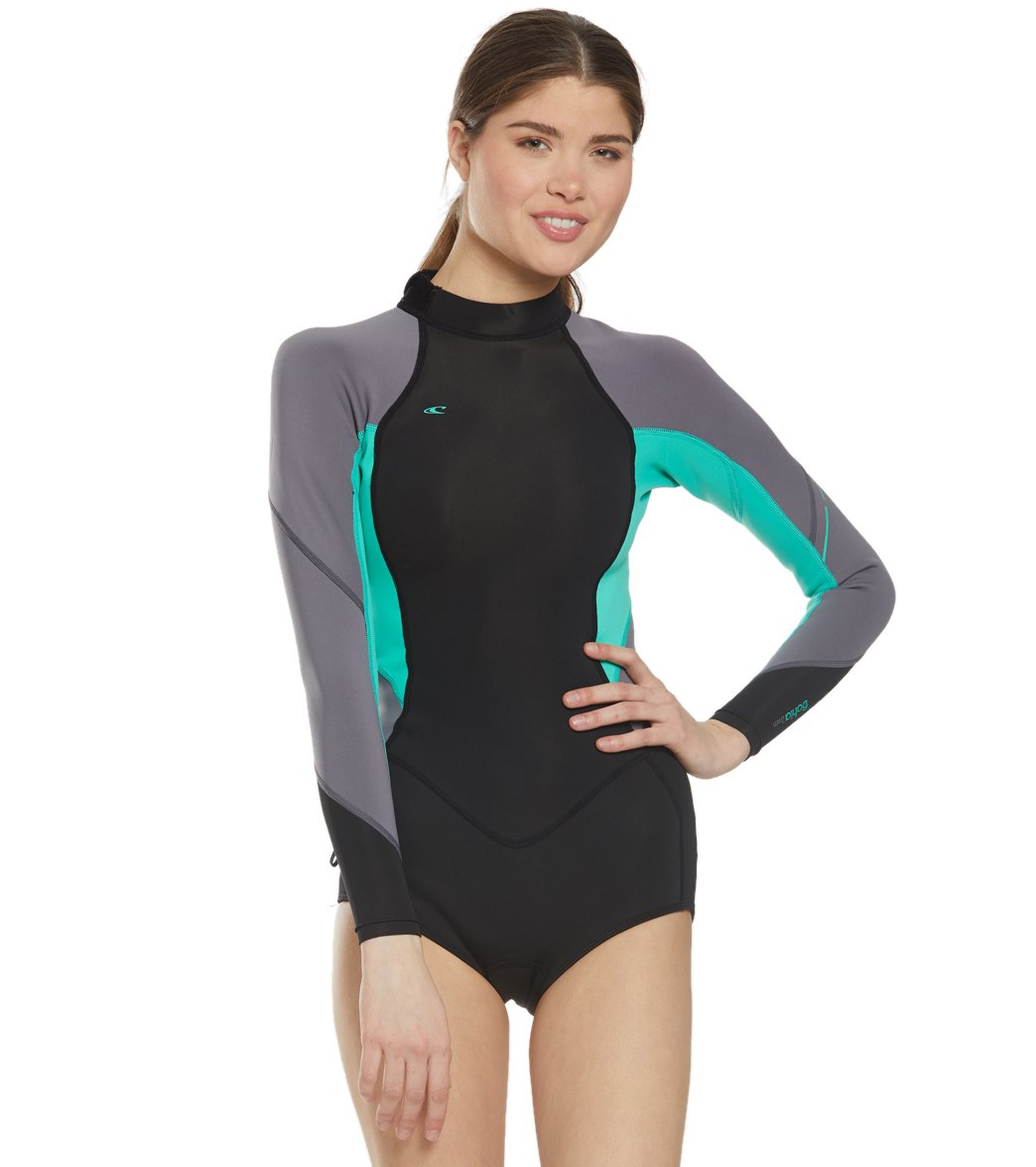 4a2b2caff7 O Neill Women s 2 1MM Bahia Long Sleeve Springsuit Wetsuit at ...