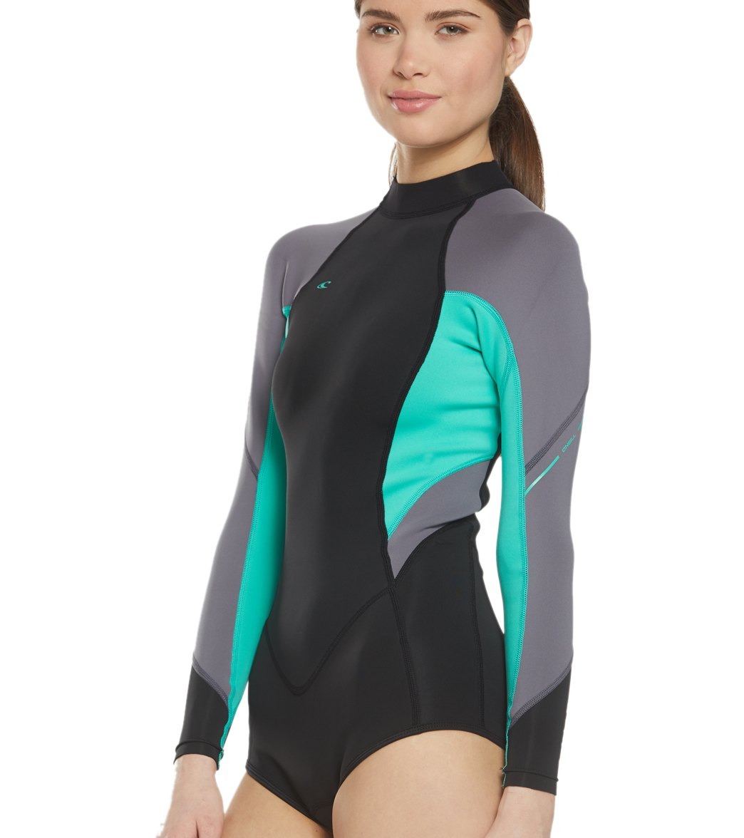 O Neill Women s 2 1MM Bahia Long Sleeve Springsuit Wetsuit at ... 6c2e8a182