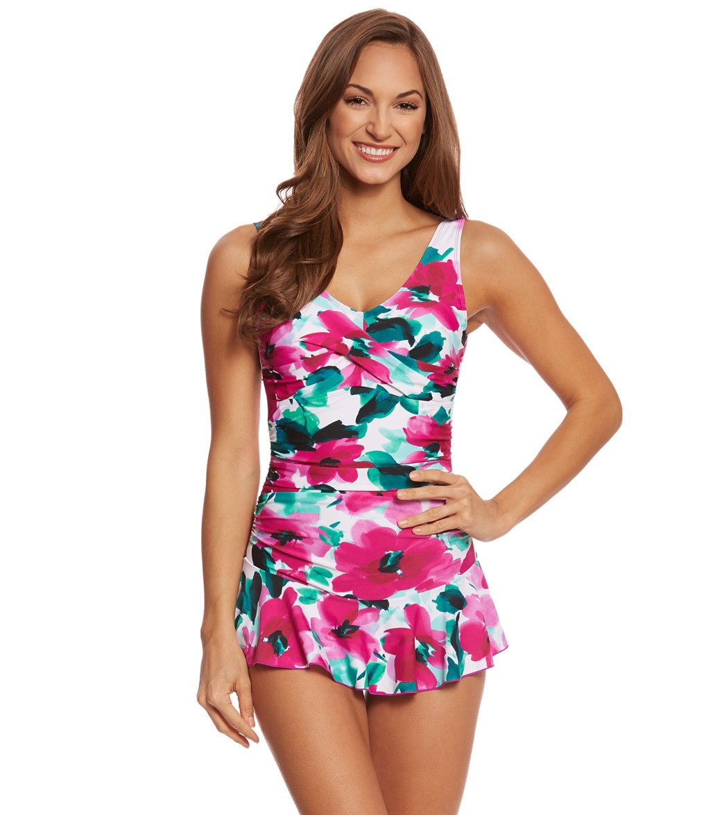299a5ed0759 Ceeb Hibiscus Skirted One Piece Swimsuit at SwimOutlet.com - Free ...