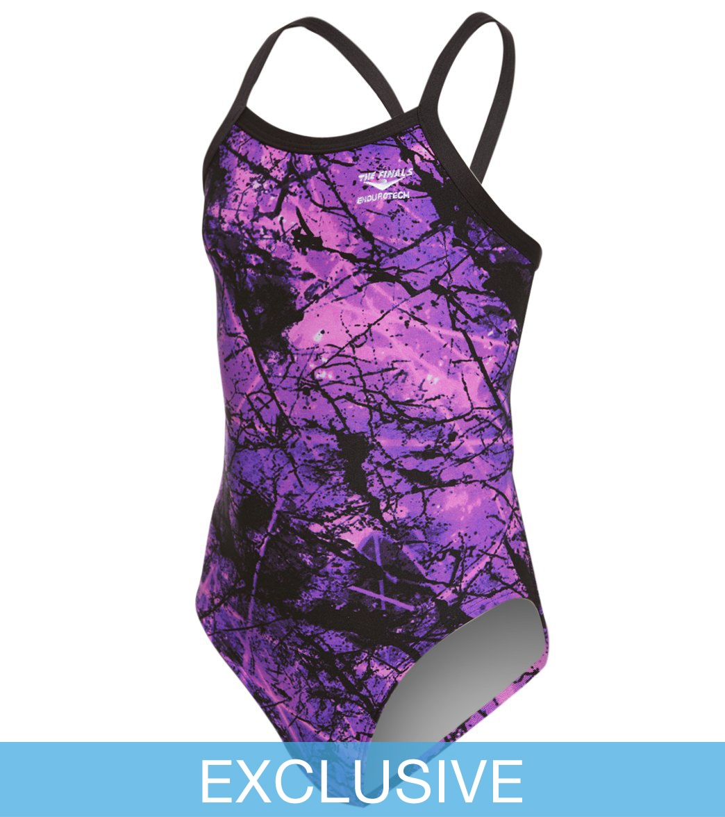 e34d5fbdd41 The Finals Girls' Amethyst Butterfly Back One Piece Swimsuit at ...