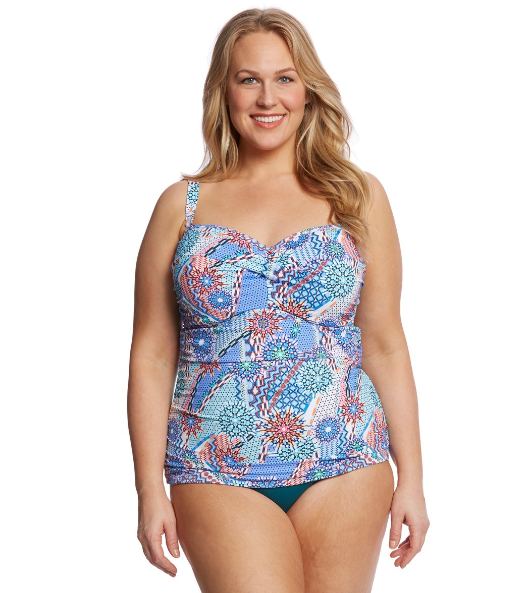 e2cd9121508 Sunsets Plus Size Impulse Iconic Twist Tankini Top (D/DD Cup) at ...