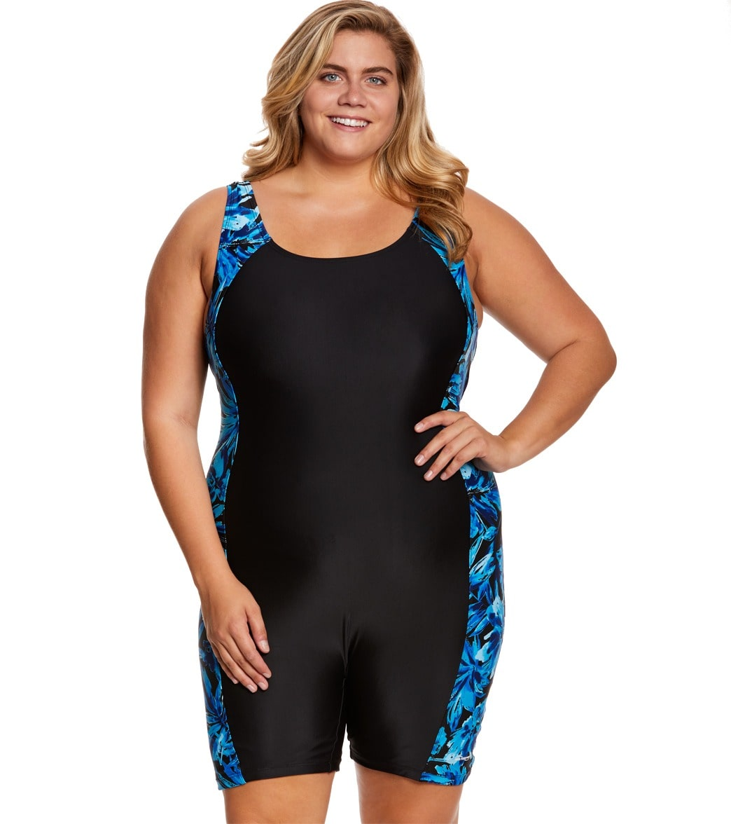 Waterpro Women s Plus Size Tropics Splice Unitard at SwimOutlet.com - Free  Shipping bb54264e9
