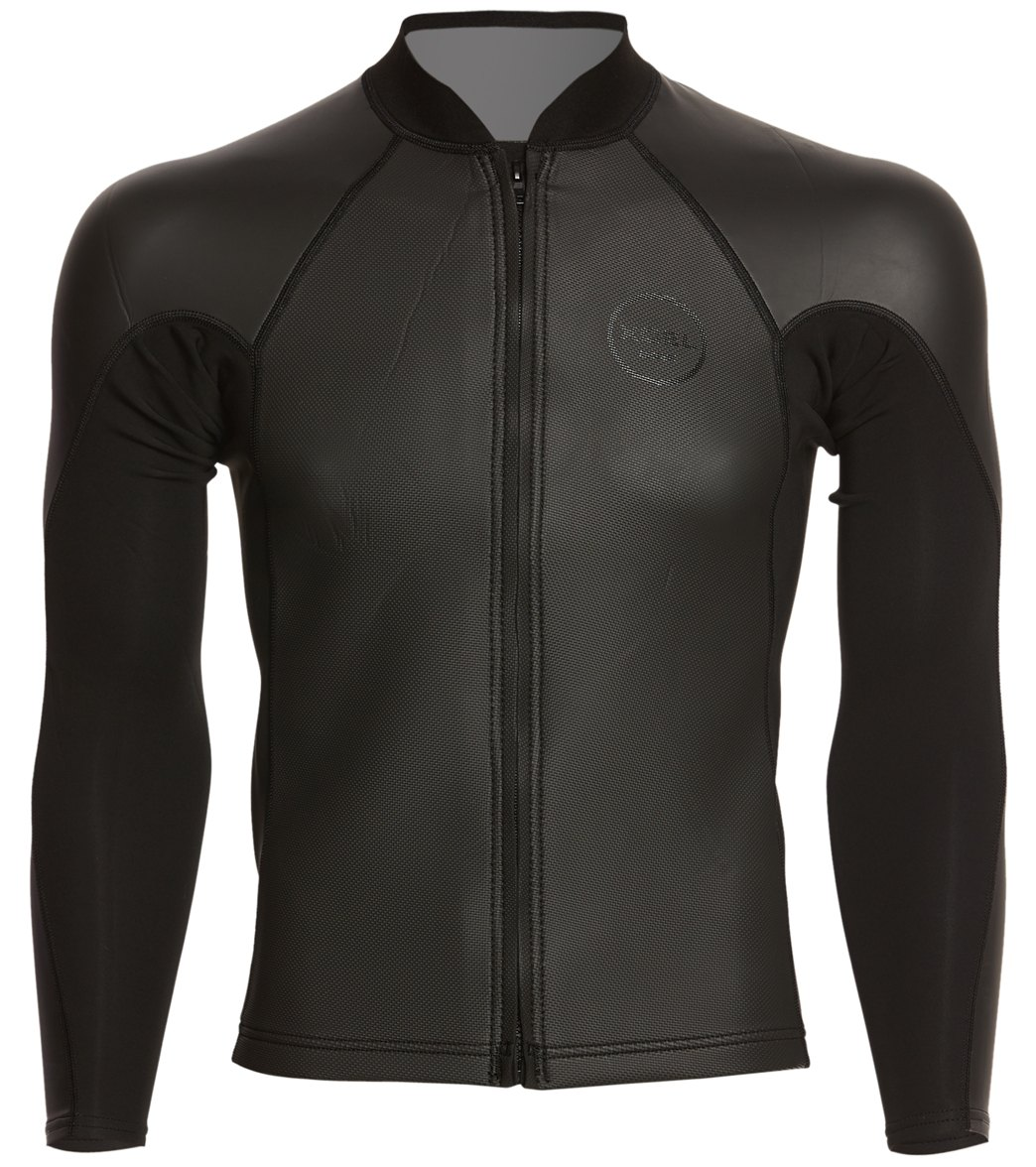 Xcel Men s 2 1MM Axis SharkSkin Front Zip Wetsuit Jacket at ... 6a563cdf5