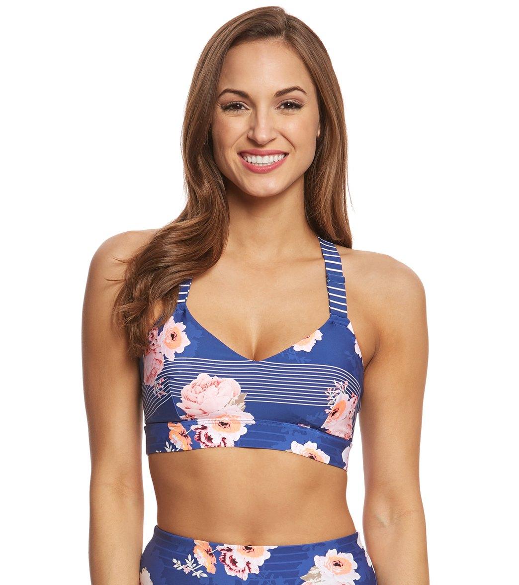 cf169d3d6f Seafolly Women's Vintage Wildflower Dance Bralette Bikini Top