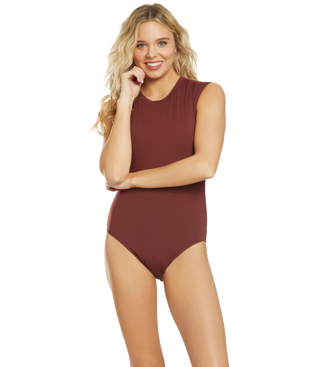 fe8d7167fd Seafolly Active Cap Sleeve One Piece Swimsuit at SwimOutlet.com ...