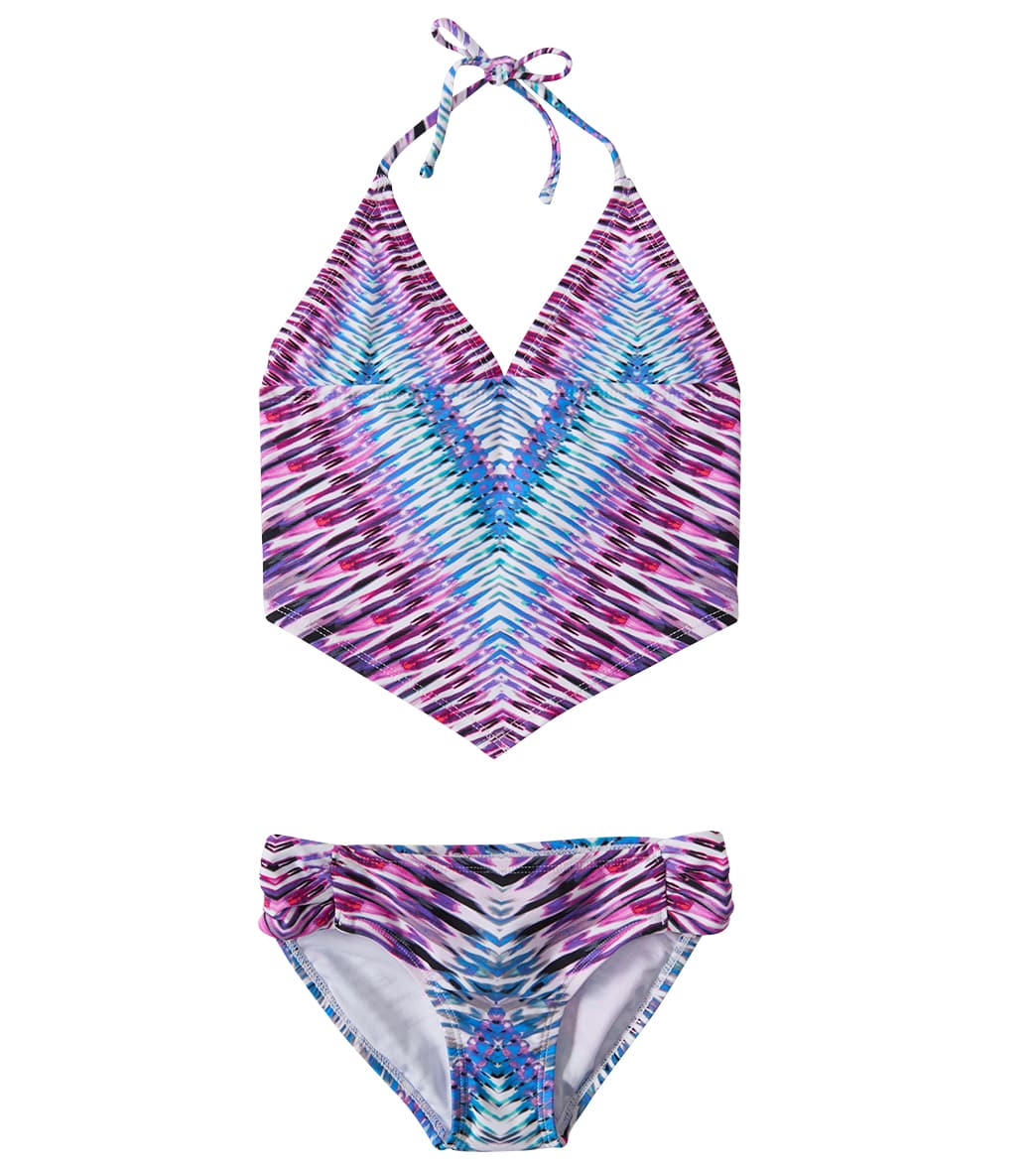5eaea095b8 Raisins Girls  Stolen Heart Crazy In California Bikini Set (4-6X) at  SwimOutlet.com