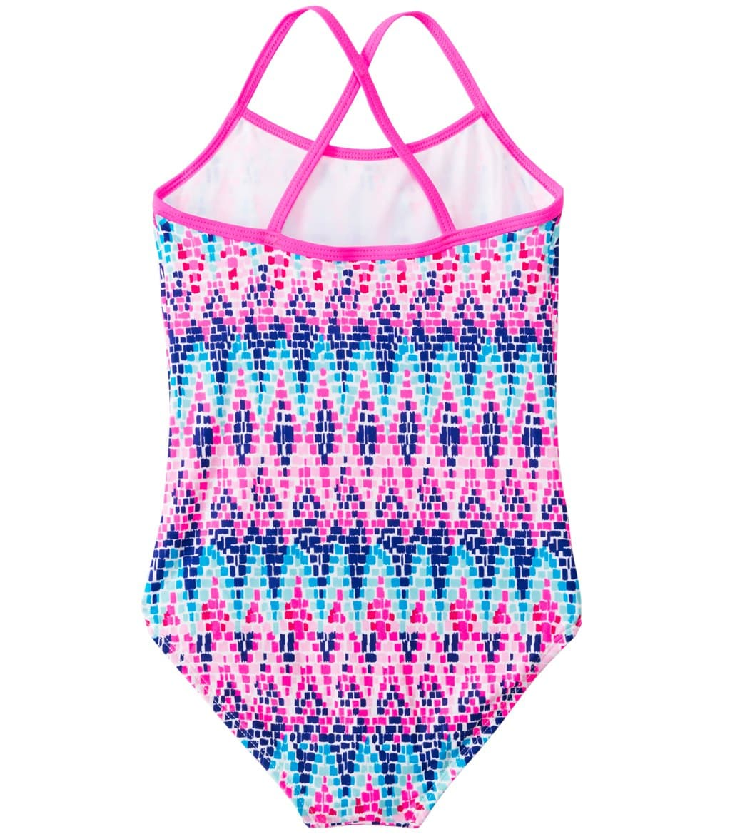 3b86918ea4 Kanu Surf Girls' Candy One Piece Swimsuit (7-14) at SwimOutlet.com