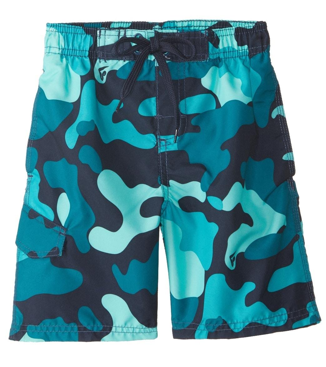 f5c2ad806c0a4 Kanu Surf Boys' Camo Swim Trunks (4-7) at SwimOutlet.com