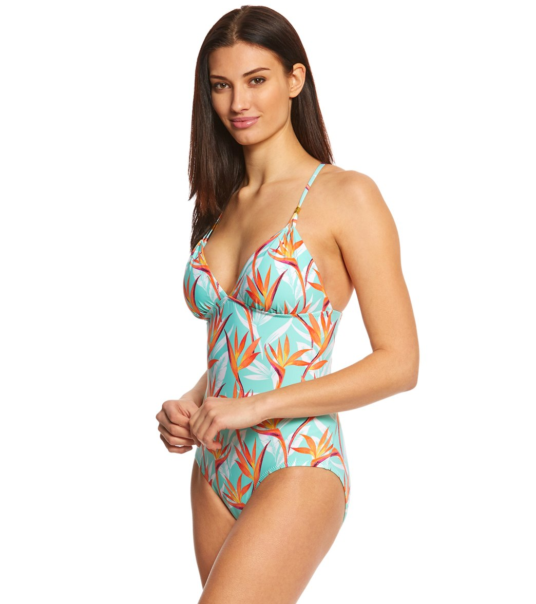 7ebf64684c Helen Jon Fire Island Lattice Back One Piece Swimsuit at SwimOutlet ...