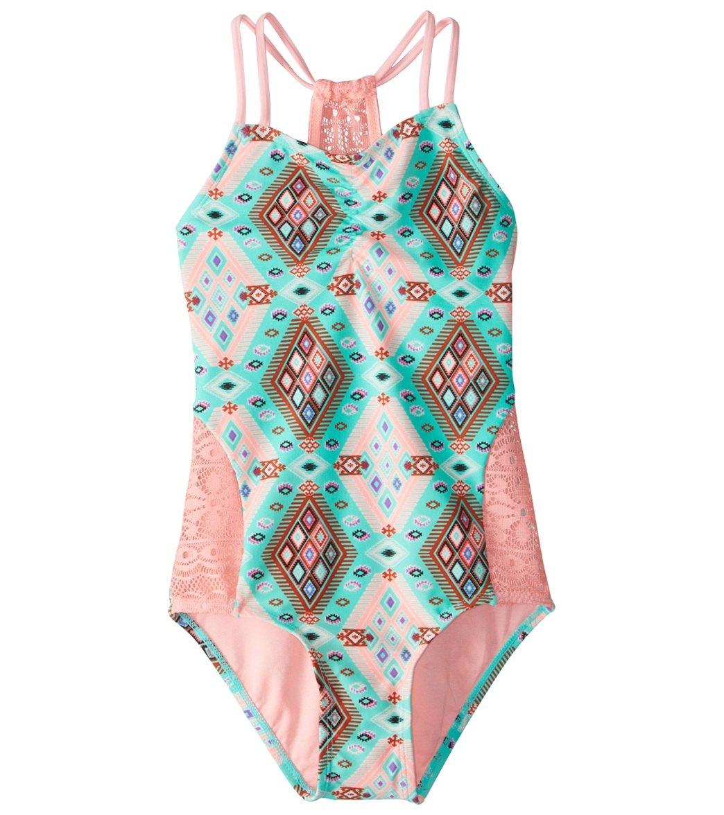60135b6534 Gossip Girls' Aztec Harvest One Piece Swimsuit (7-16) at SwimOutlet ...