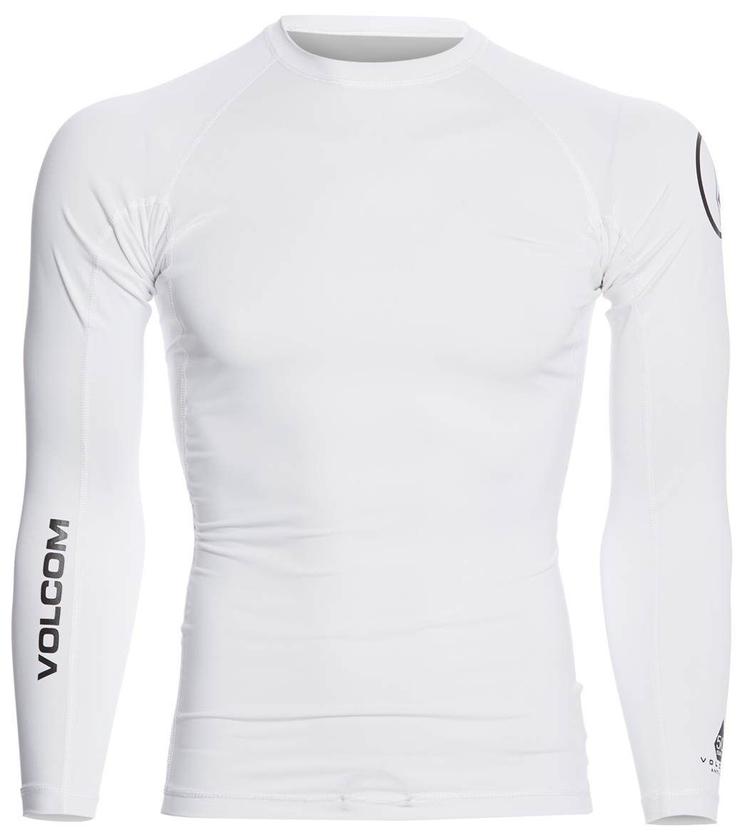 ca39ef891ca63 Volcom Men's Lido Solid Long Sleeve Rashguard at SwimOutlet.com