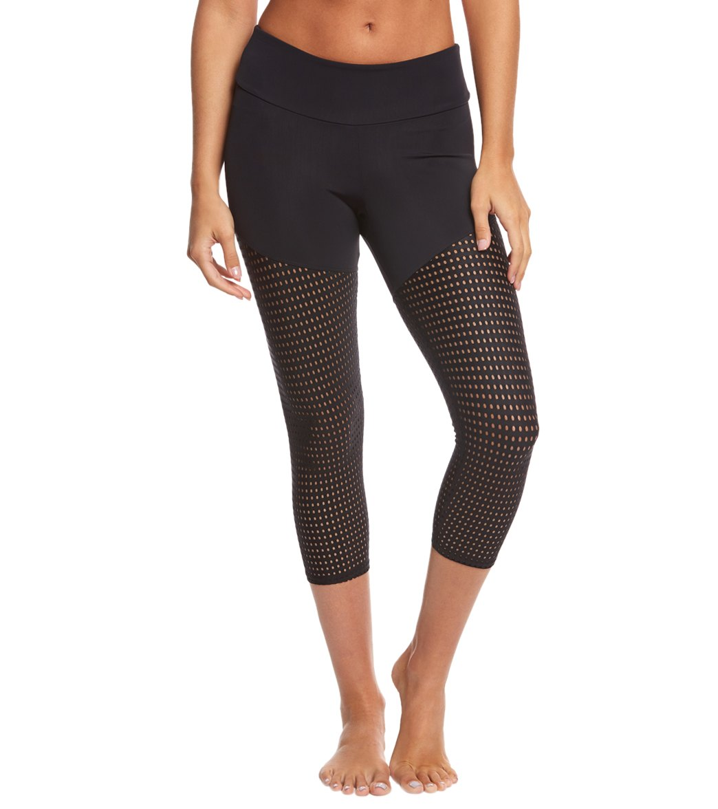 Onzie Half/Half Yoga Capris at YogaOutlet.com - Free Shipping