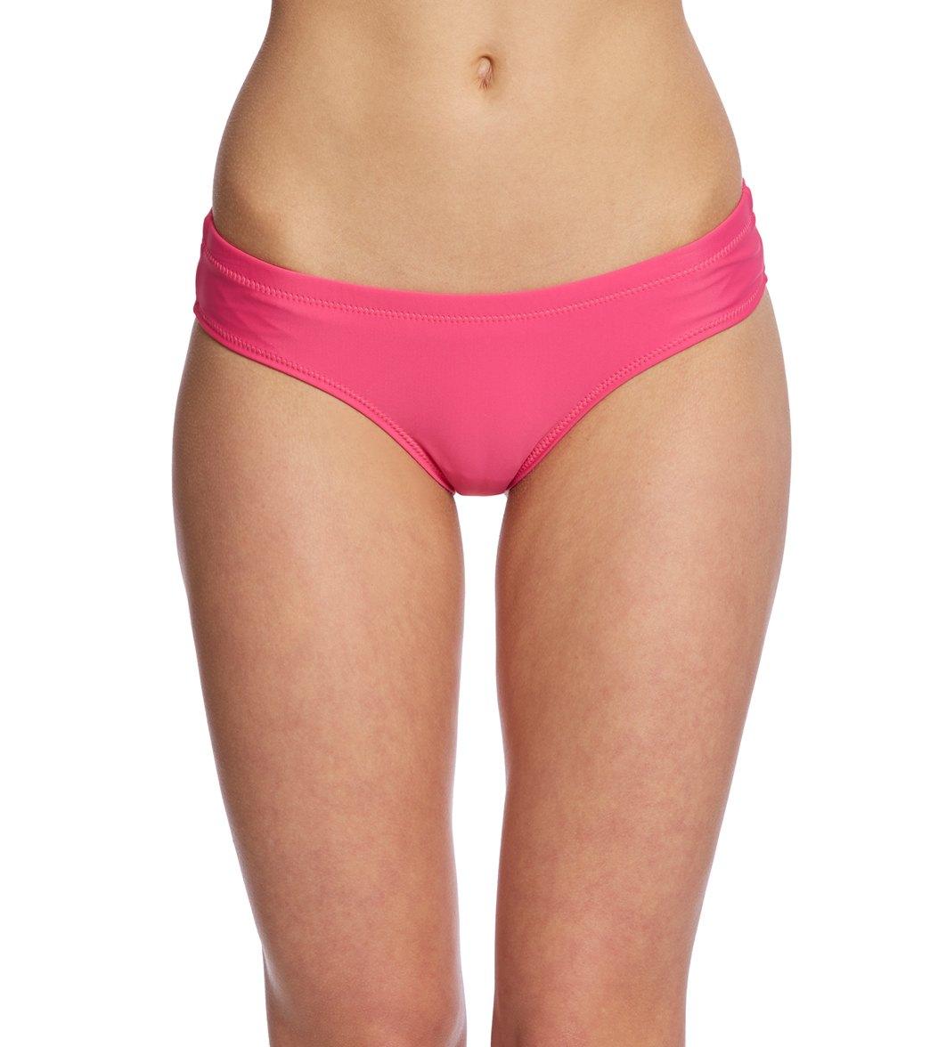 fd3af4c0557 Volcom Simply Solid Cheeky Bikini Bottom at SwimOutlet.com