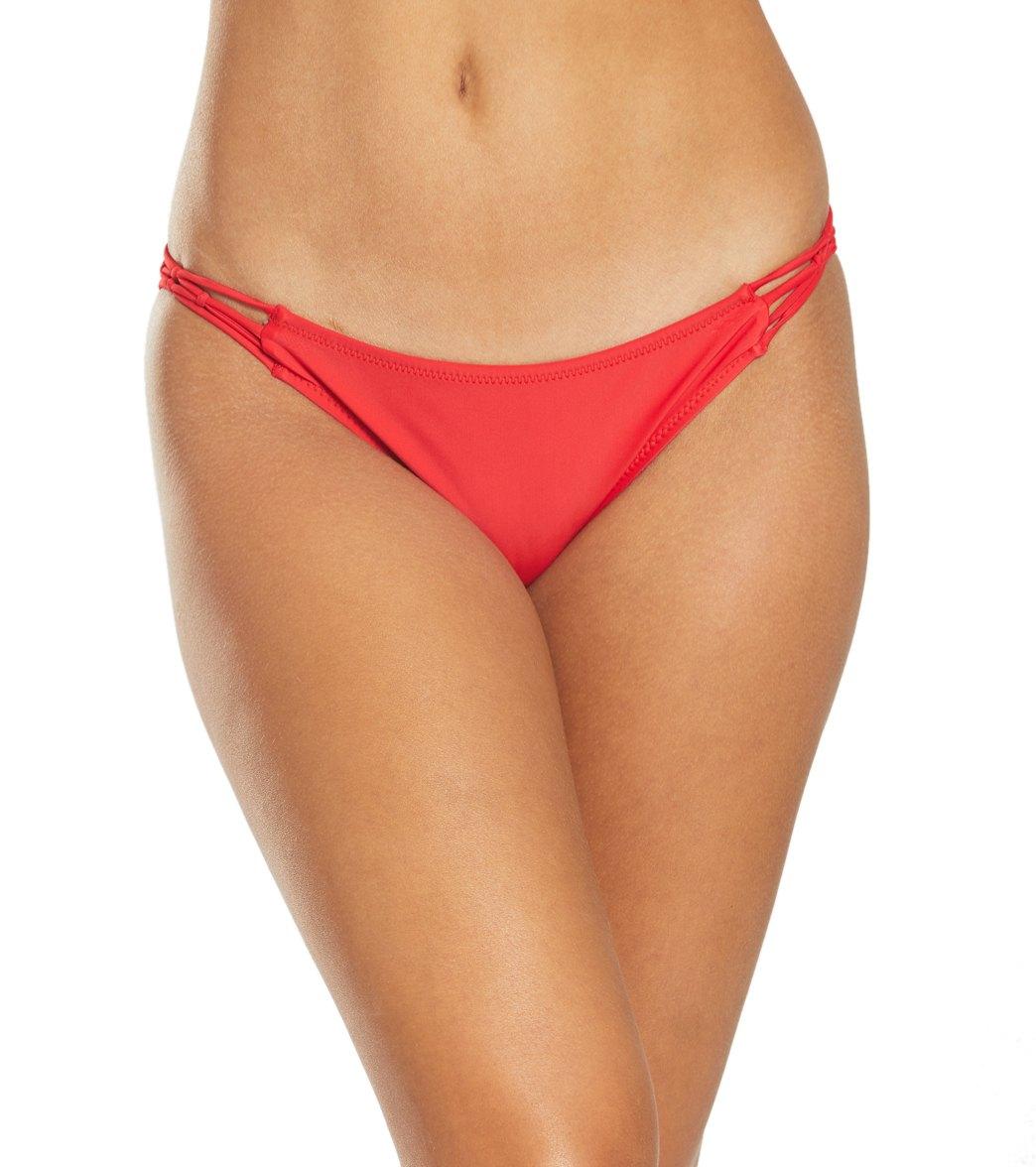 Volcom Womens Juniors Simply Solid Full Bikini Bottom