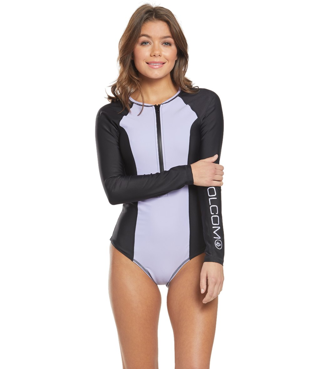715fe80dc0 Volcom Simply Solid Long Sleeve One Piece Swimsuit at SwimOutlet.com ...
