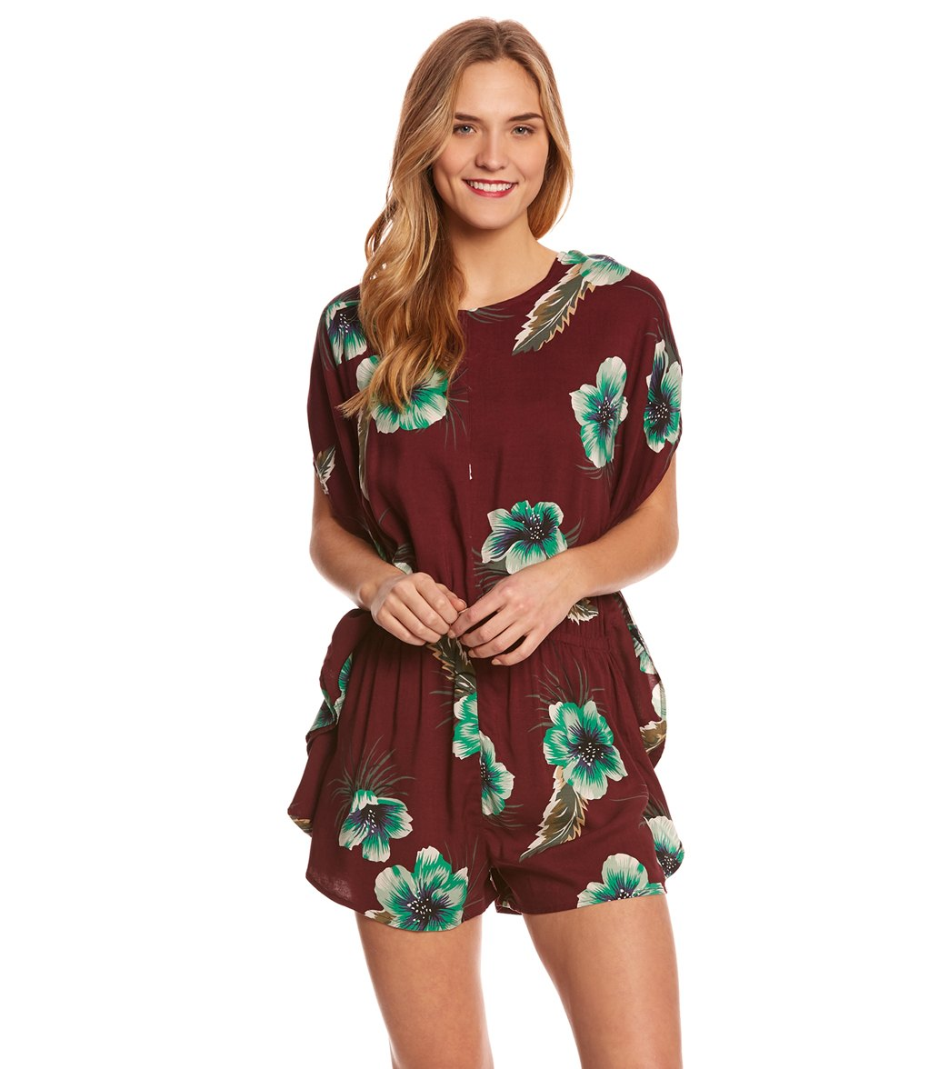b916b3eec57 Volcom Fox Tail Palm Romper at SwimOutlet.com - Free Shipping