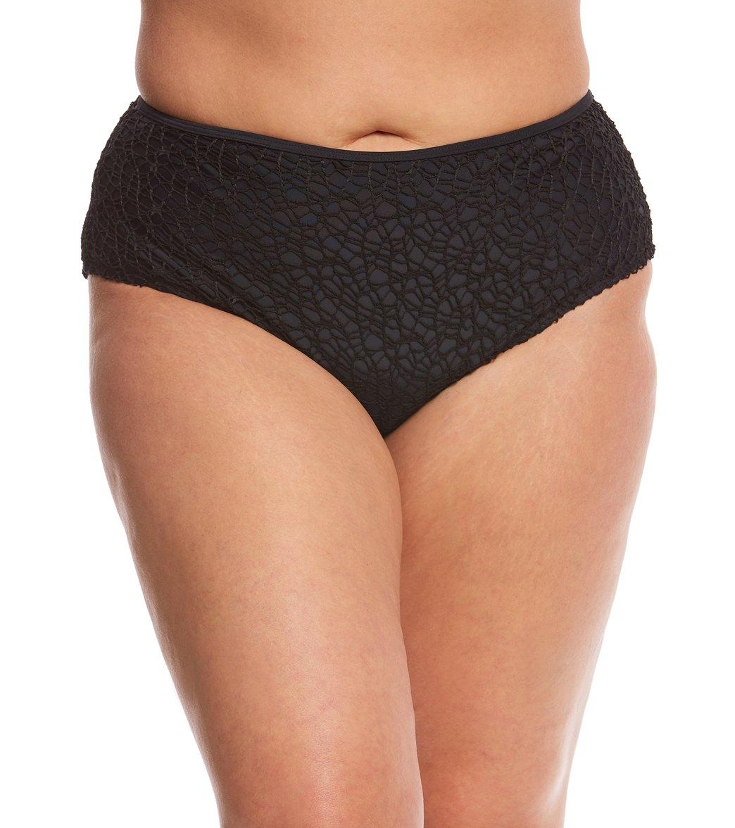 f5ac1df85c97e Paramour Plus Size Mykonos Solid High Waisted Bikini Bottom at  SwimOutlet.com