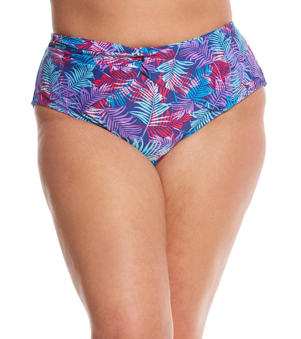 8e69577ddd9aa ... Plus Size St. Barths High Waisted Bikini Bottom. MODEL MEASUREMENTS