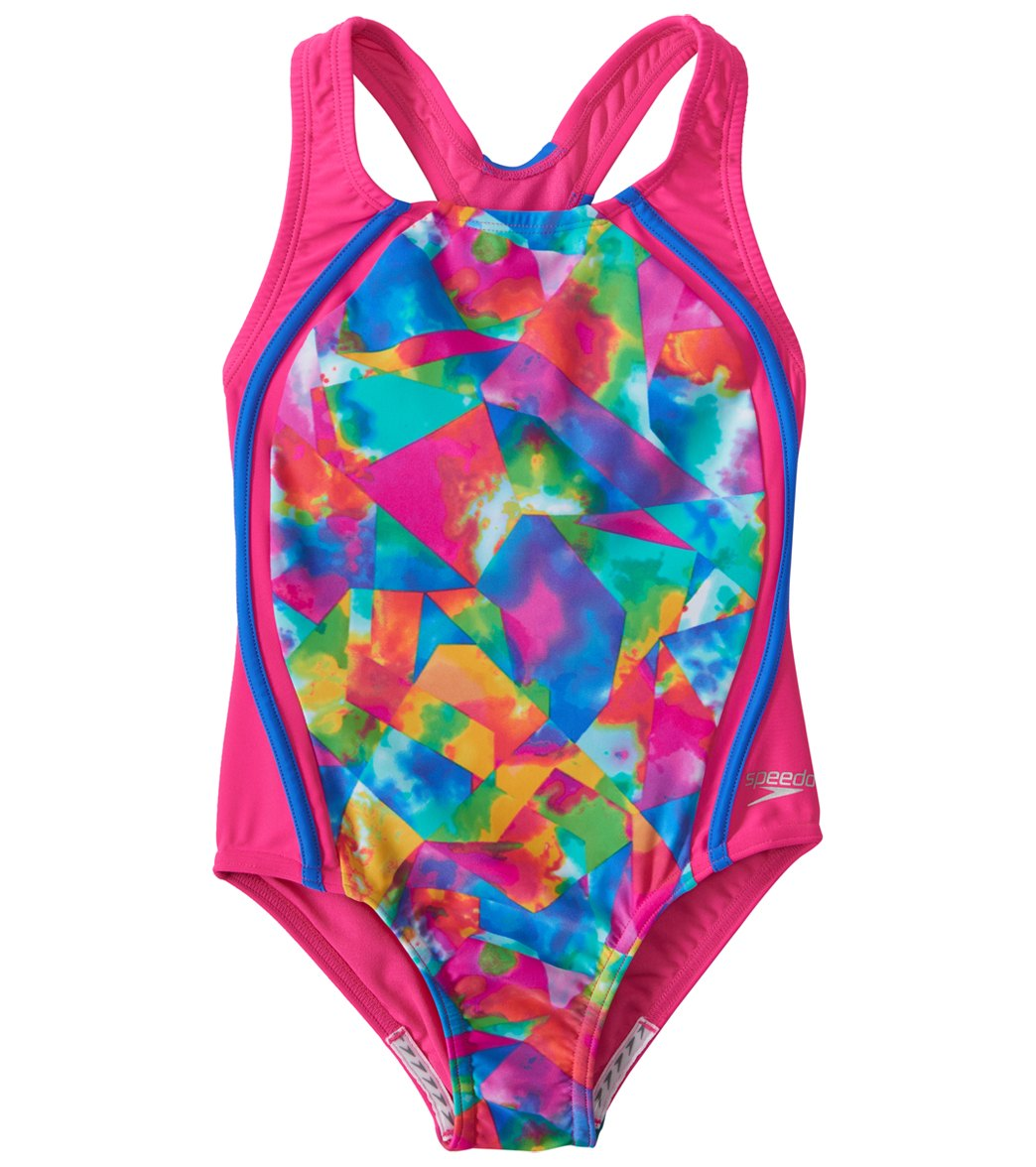 5594138bd4 ... Speedo Girls' Tie Dye Sky Sport Splice One Piece Swimsuit (7-16). Share