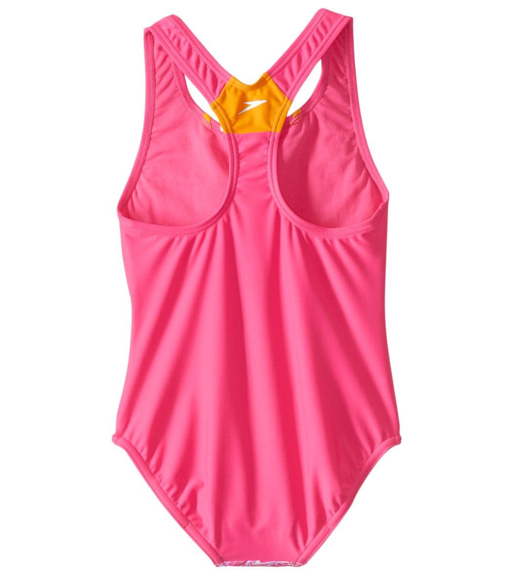 7727771c5f Speedo Girls' Sport Splice One Piece Swimsuit (Big Kid) at SwimOutlet.com