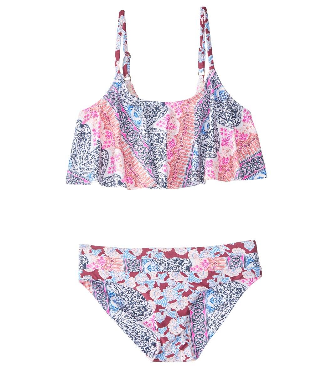 9070f4c142f9 O'Neill Girls' Cruz Ruffle Bikini Set (7-14) at SwimOutlet.com - Free  Shipping