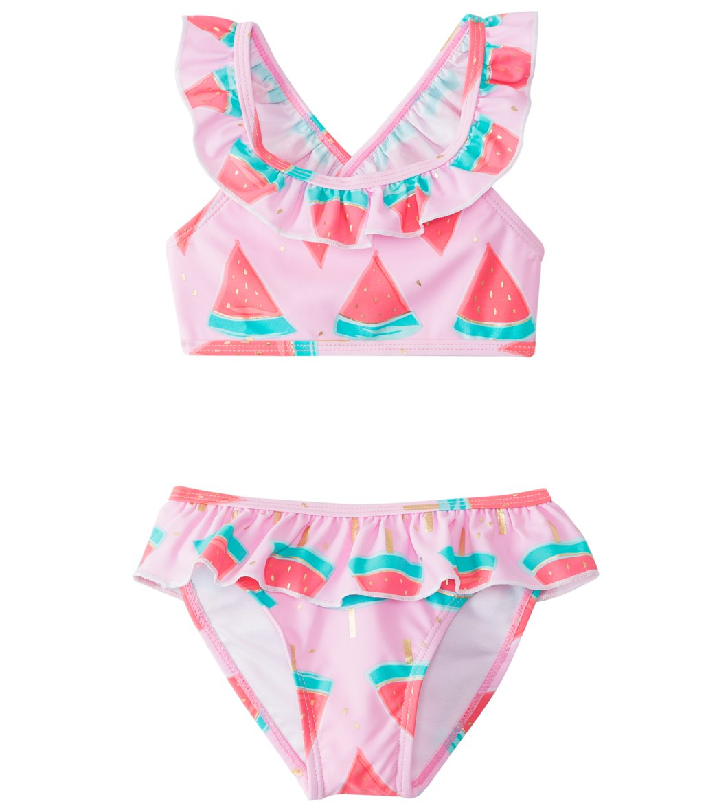 e718e114371 Snapper Rock Girls' Watermelon Ruffle Bikini Set (2T-10) at SwimOutlet.com
