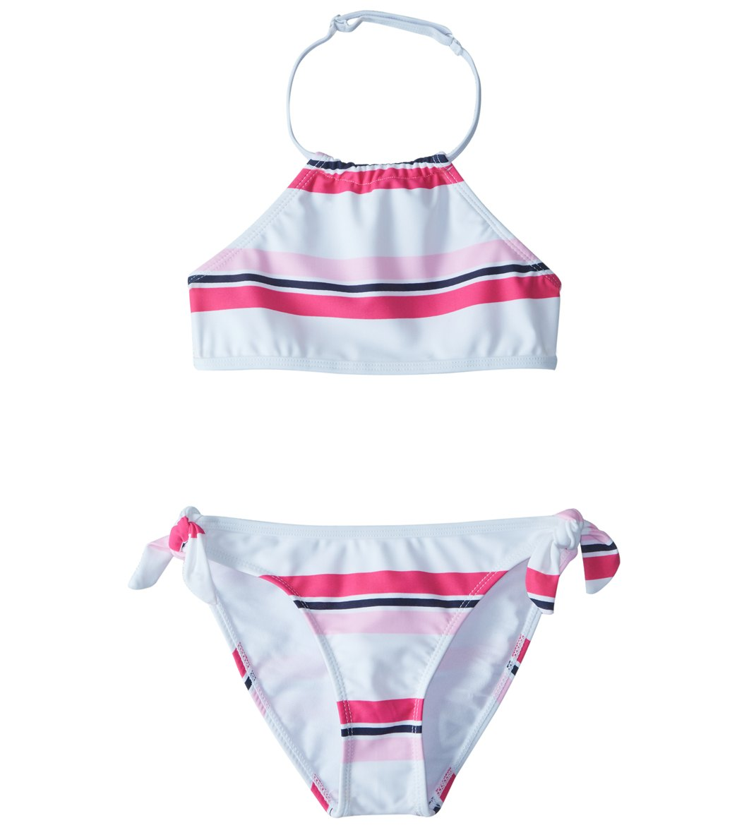 ff1ef852e7 Snapper Rock Girls  Cabana Stripe Halter Bikini Set (8-16) at ...