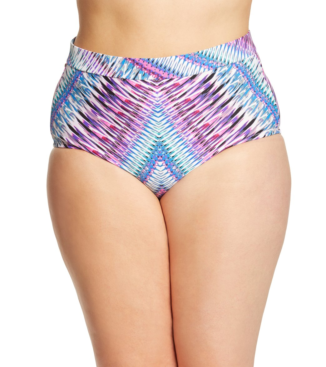 5f3239a8266 Raisins Curve Plus Size Stolen Heart Island High Waist Bikini Bottom at  SwimOutlet.com