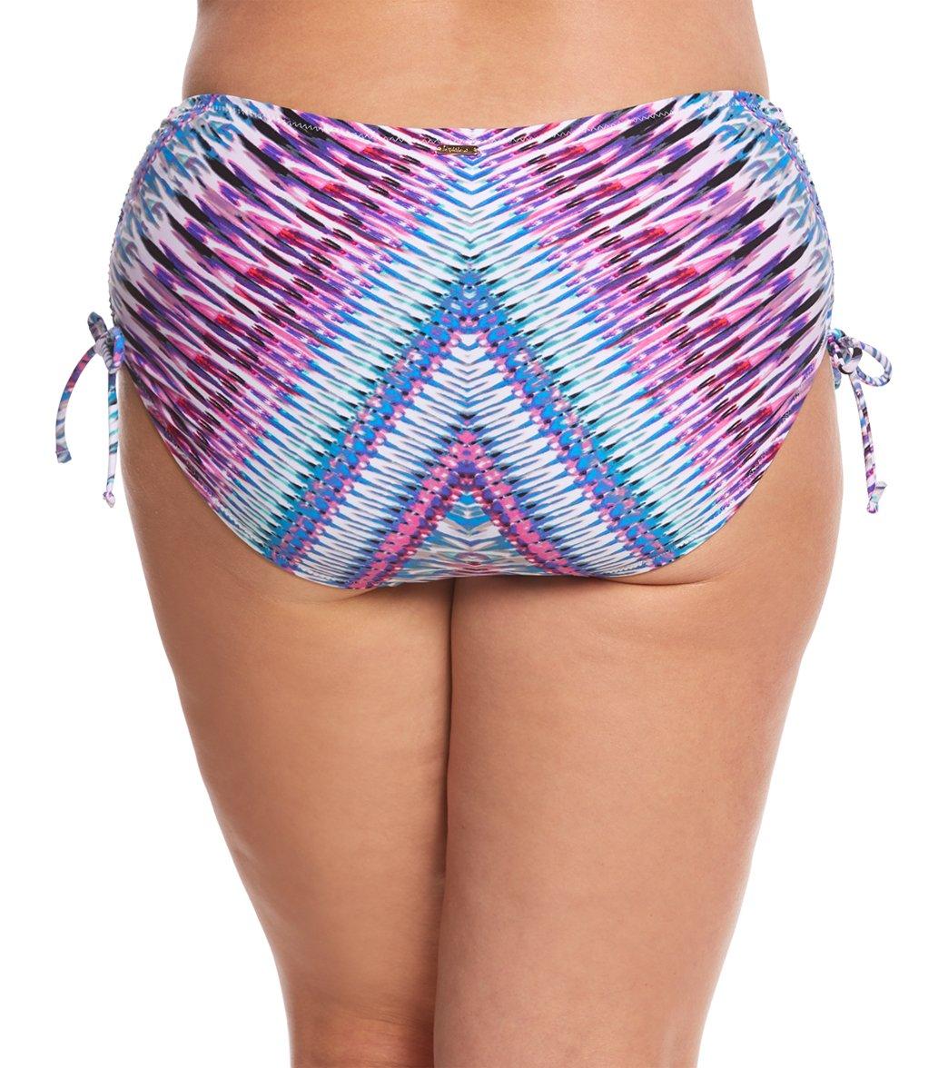 45cf760edf8 Raisins Curve Plus Size Stolen Heart Pacific Bikini Bottom at SwimOutlet.com