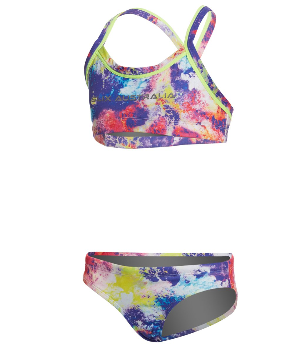 b9646496a19 Slix Australia Girls' Colour Run Two Piece Bikini Set at SwimOutlet.com -  Free Shipping