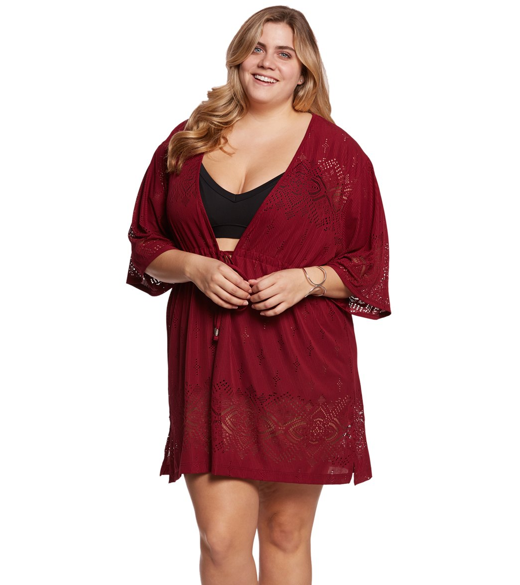 626353c080 Dotti Plus Size Gypsy Dance Kimono Tunic at SwimOutlet.com - Free Shipping