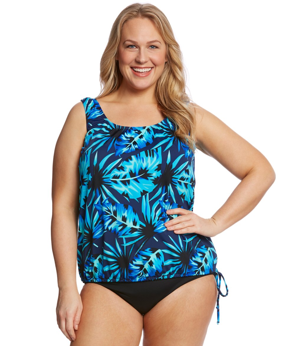 a7908d162022a ... Topanga Plus Size Deco Royale Mastectomy Wear Your Own Bra Tankini Top.  Play Video. MODEL MEASUREMENTS