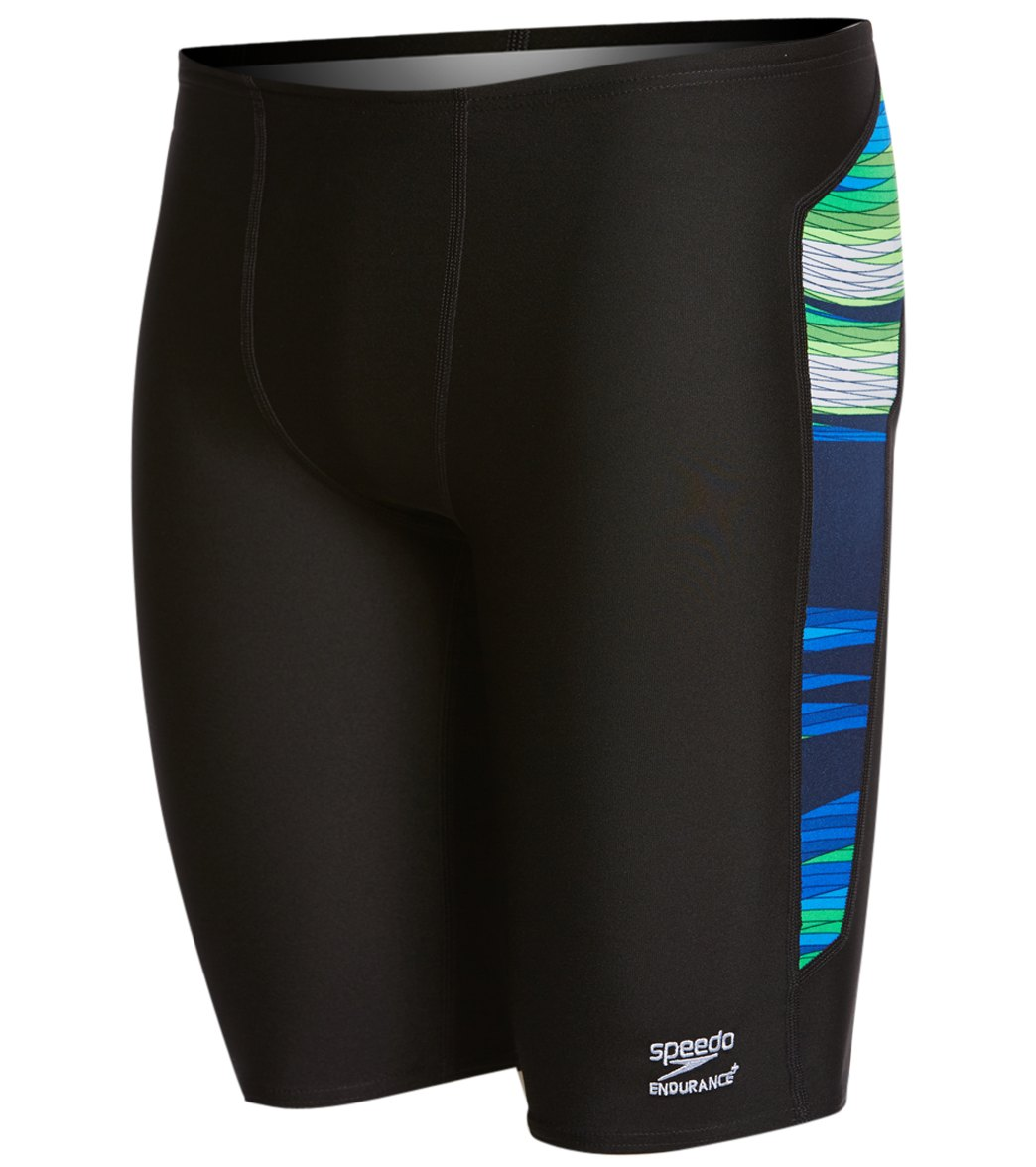 870bf43e17 Speedo Endurance+ Men's Havoc State Jammer Swimsuit at SwimOutlet.com -  Free Shipping