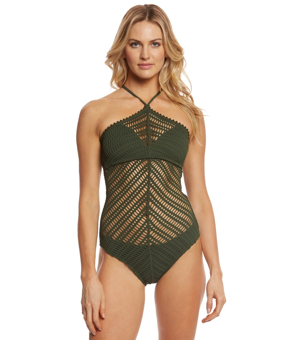 b725bdd7db7 Robin Piccone Sophia High Neck One Piece Swimsuit at SwimOutlet.com - Free  Shipping