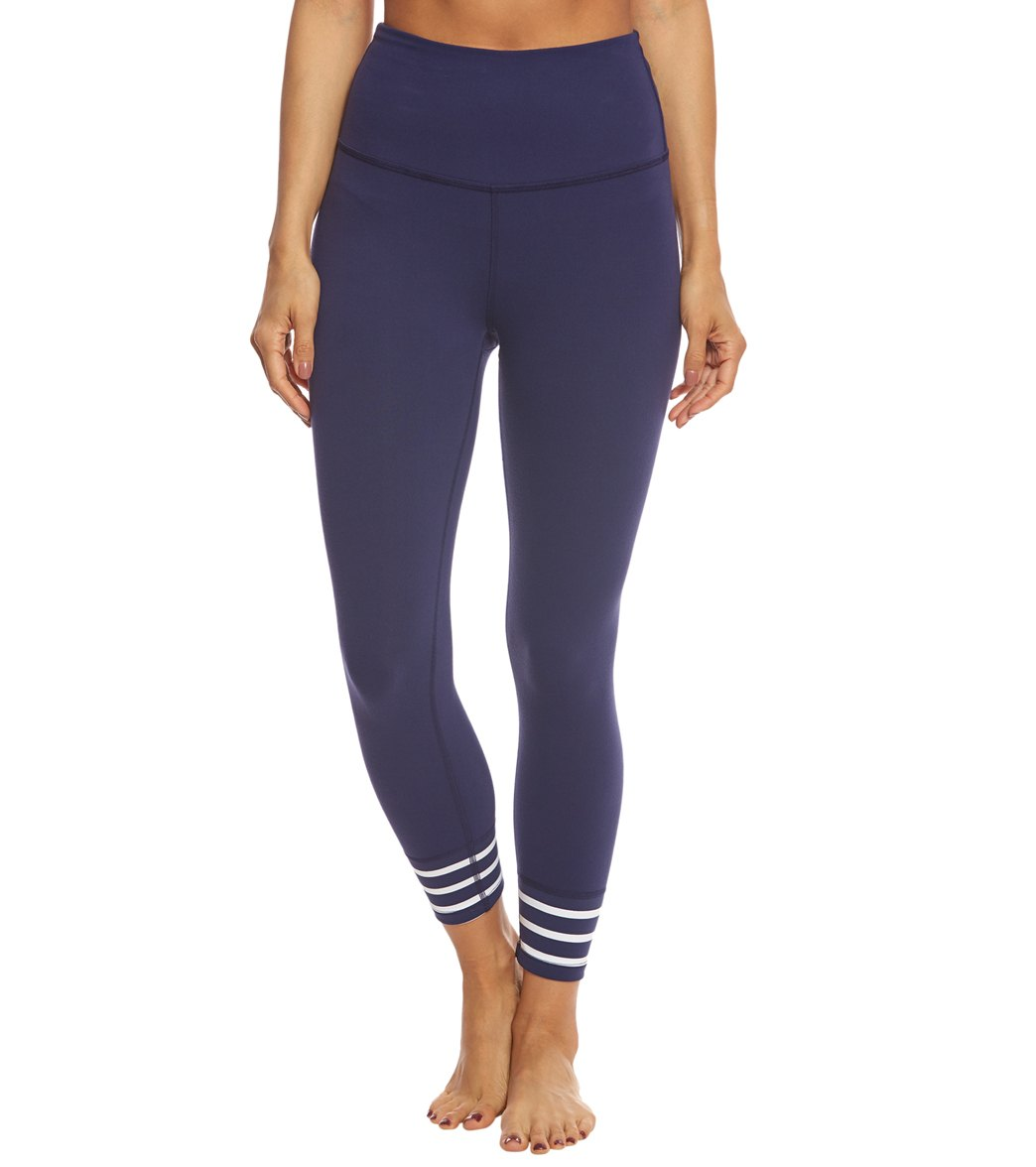Beyond Yoga Kate Spade Sailing Stripe High Waisted Yoga Capris at ...