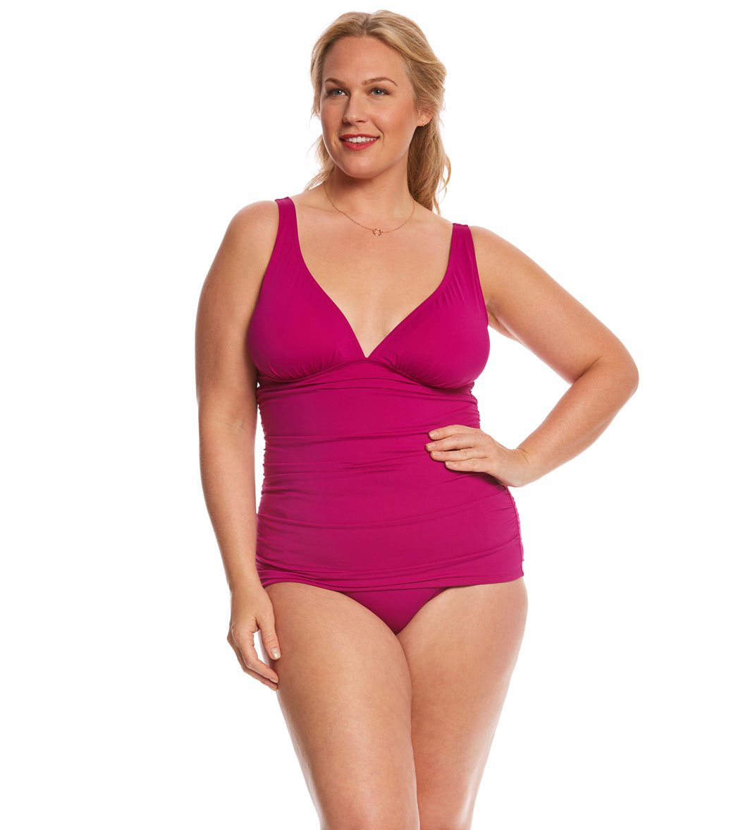9bd64ecd5ac Tommy Bahama Plus Size Long Tankini Top at SwimOutlet.com - Free ...