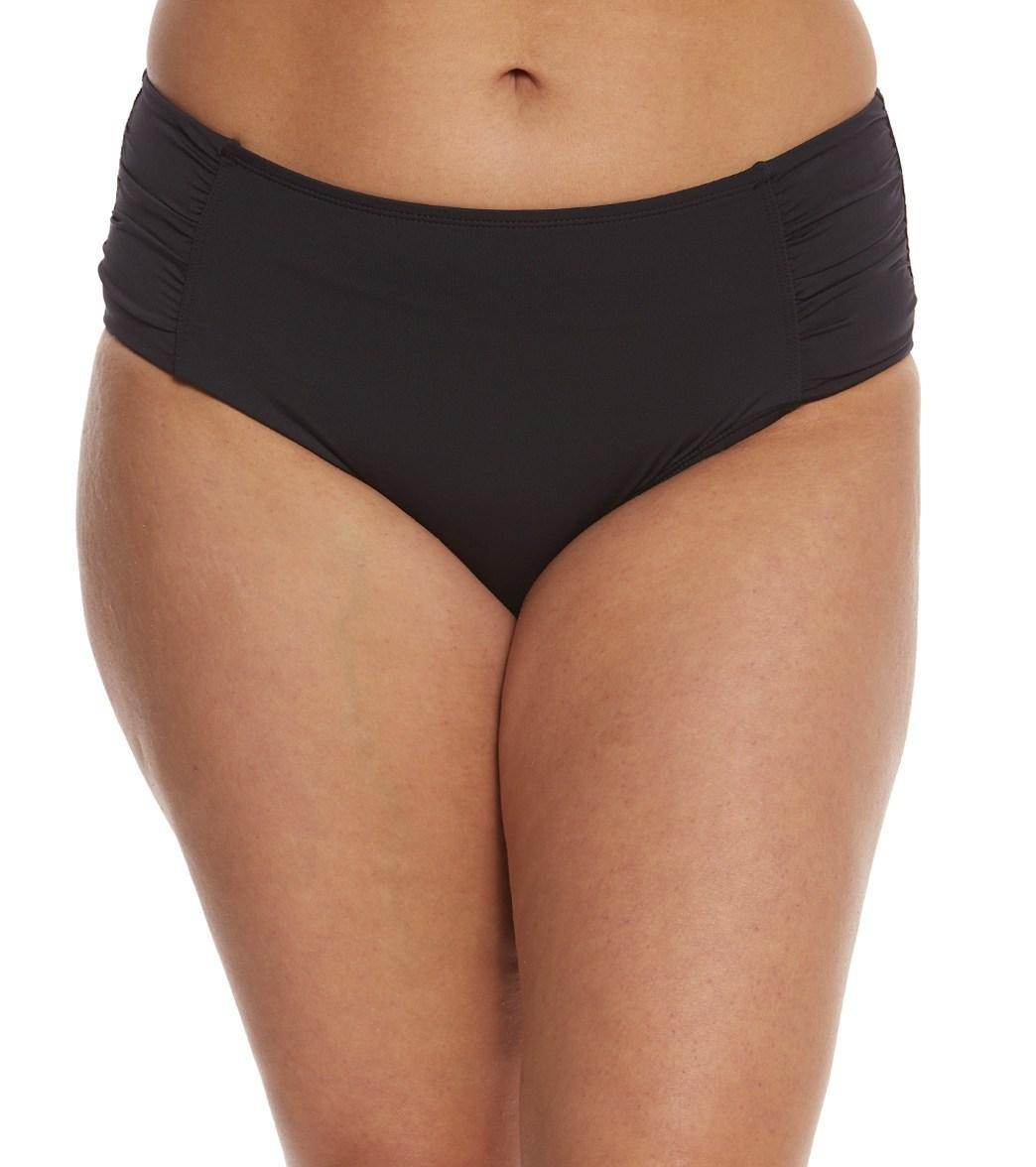1a1ce0be71323 Tommy Bahama Plus Size Side Shirred High Waist Bikini Bottom at  SwimOutlet.com - Free Shipping