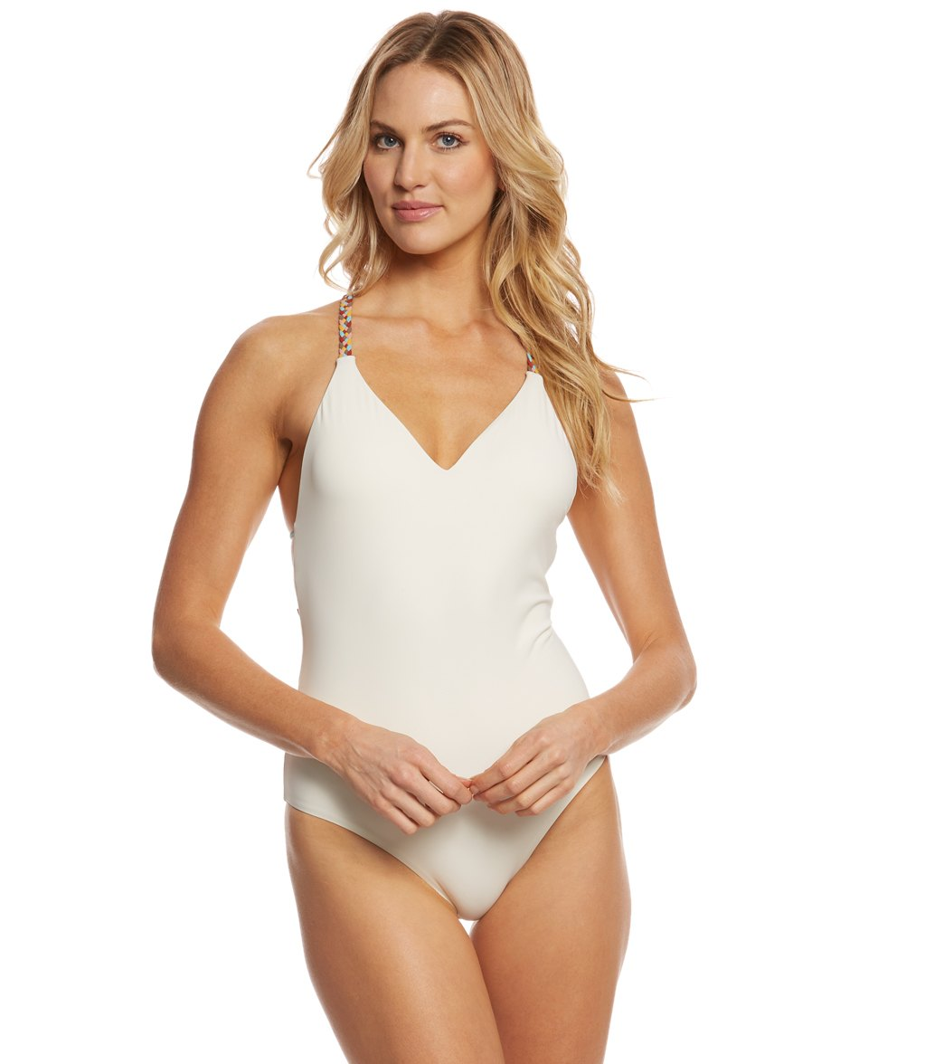 969673533b21 Red Carter Friendship Bracelet Plunge One Piece Swimsuit at SwimOutlet.com  - Free Shipping