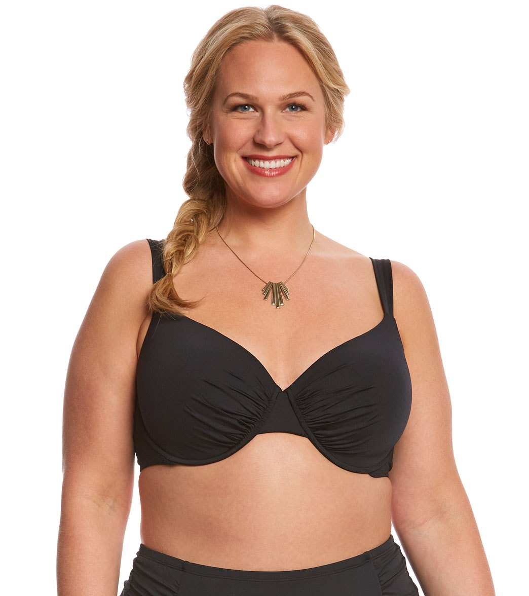 868f2617b83 ... Jantzen Plus Size Solid Underwire Bikini Top. MODEL MEASUREMENTS