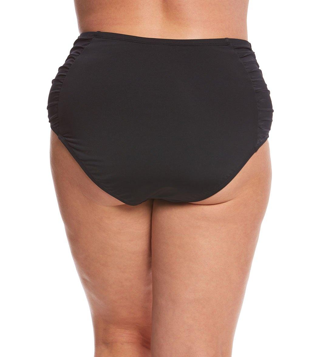 59c50a2d8e4 Jantzen Plus Size Solid High Waist Bikini Bottom at SwimOutlet.com ...