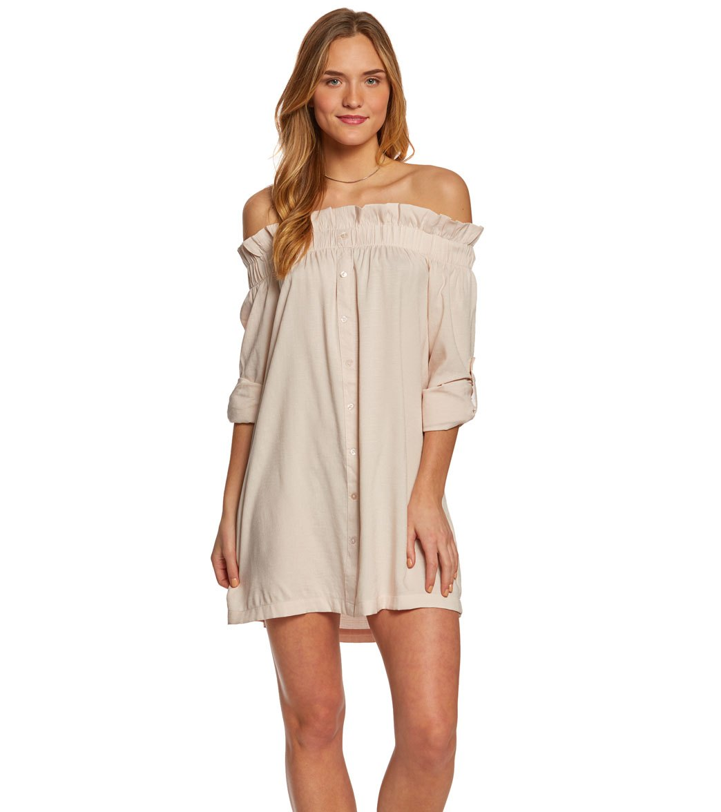 34463368e5dae MINKPINK Business Class Off Shoulder Dress at SwimOutlet.com - Free Shipping