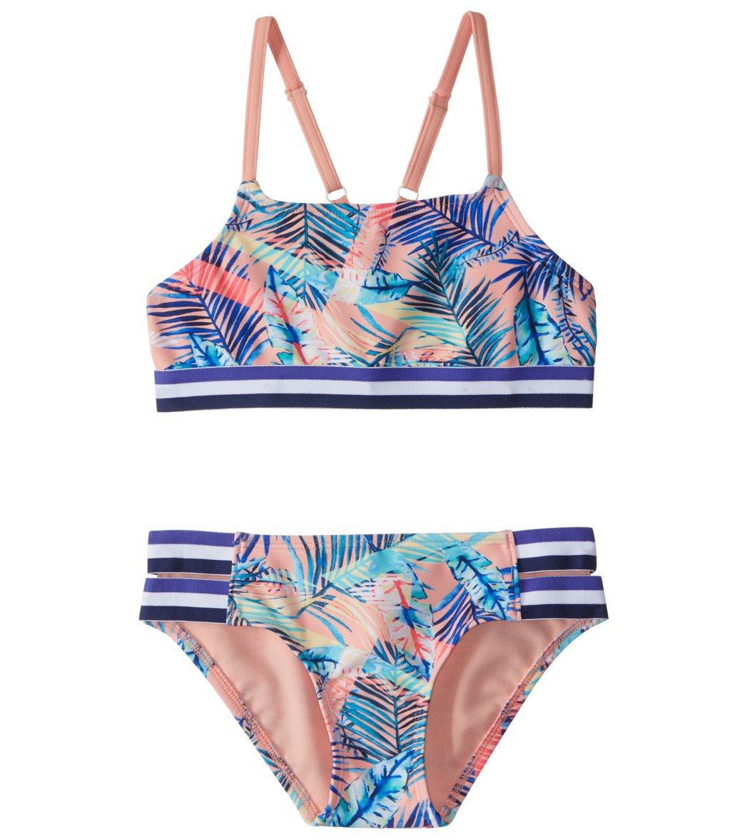 20458eb022 Roxy Kids Girls' Retro Summer Halter Bikini Set (7-16) at SwimOutlet.com