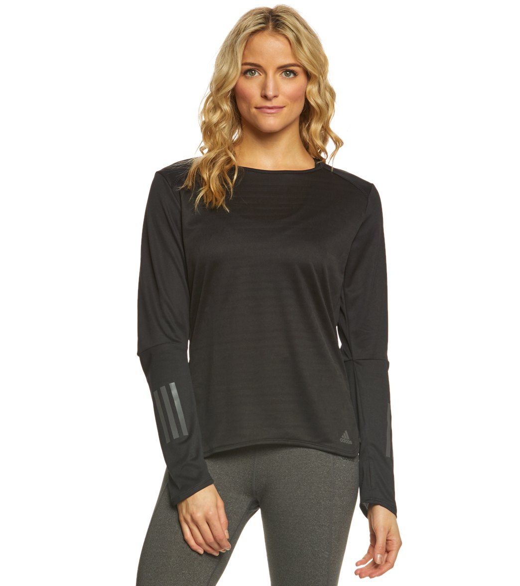 Adidas Outdoor Women's Response Long Sleeve Tee Shirt - Black Xl Polyester - Swimoutlet.com
