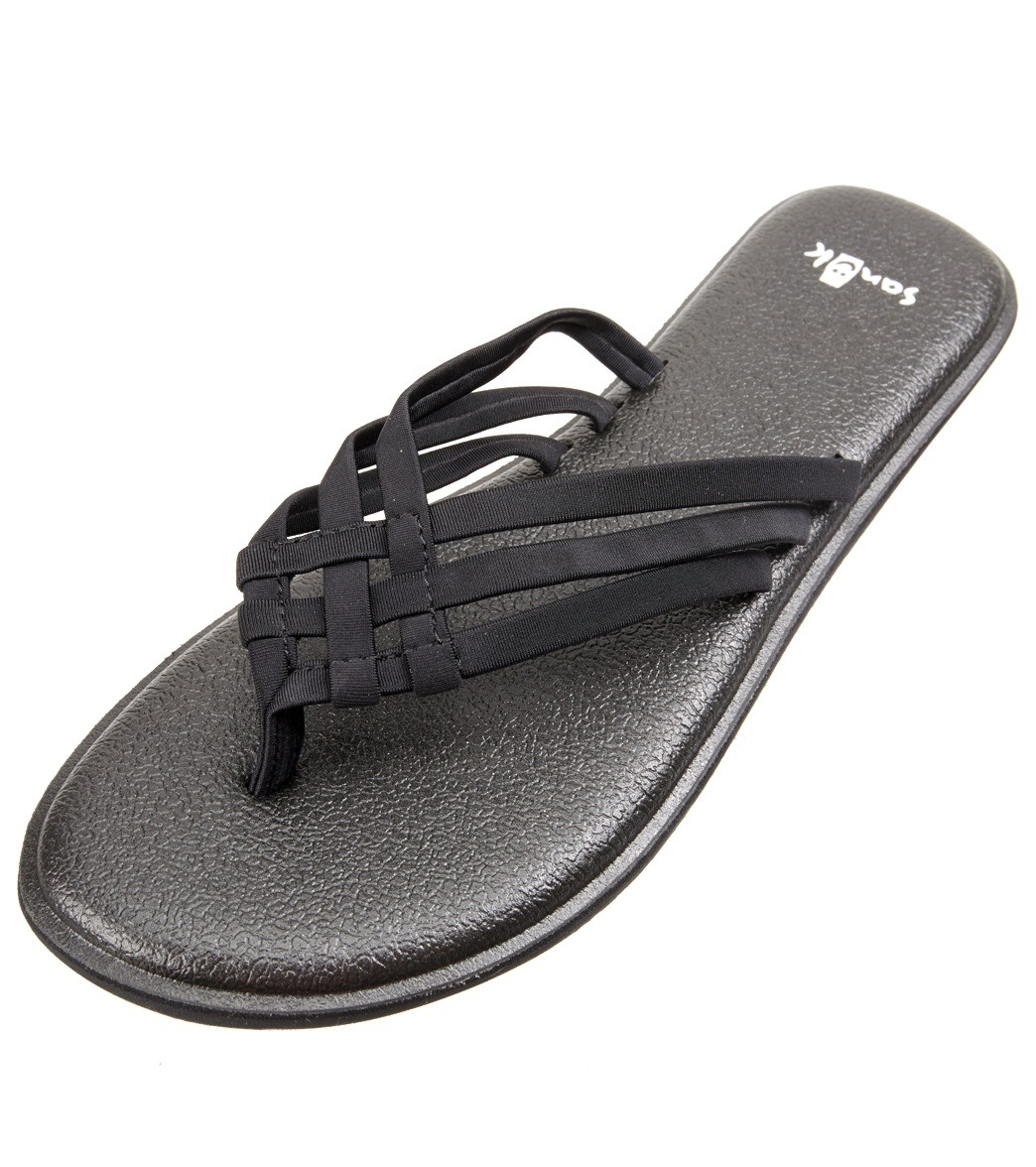 bf19271aefbf7f Sanuk Women s Yoga Salty Flip Flop at SwimOutlet.com
