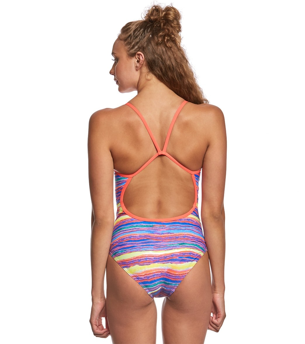 1da34905bf112 Funkita Women's Crystal Wave Single Strap One Piece Swimsuit at ...