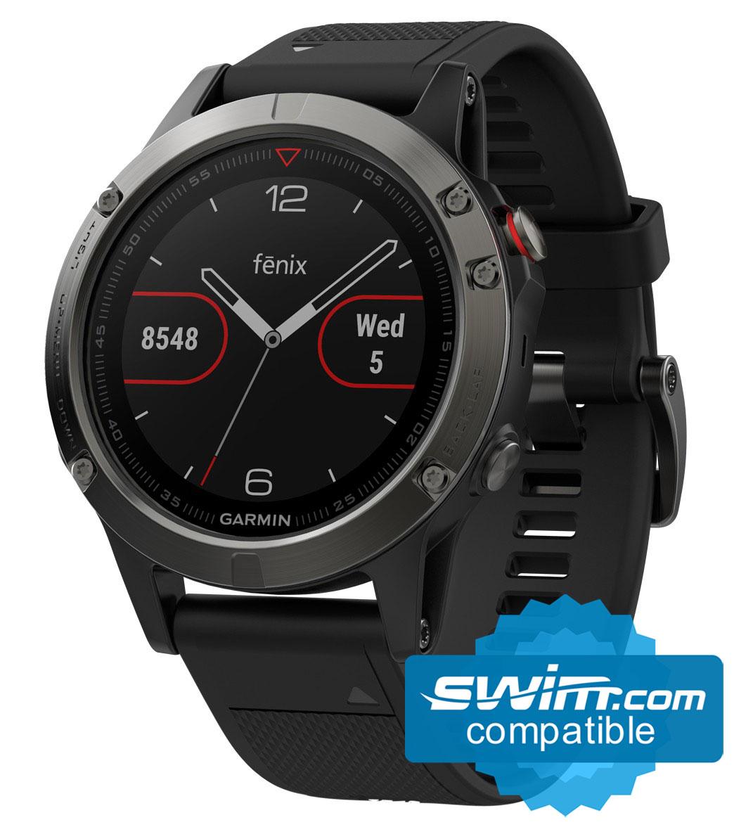 18b80afbe969 Garmin fenix 5 Multi-Sport GPS Watch at SwimOutlet.com - Free Shipping